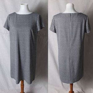 BROOKS BROTHERS Houndstooth Knit Shift Dress 14P